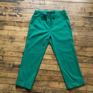 Kelly Green Elastic waist ankle pant